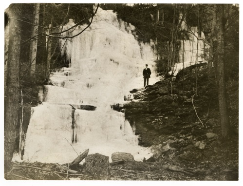 A frozen waterfall on Mt. Toby, December 5, 1906.