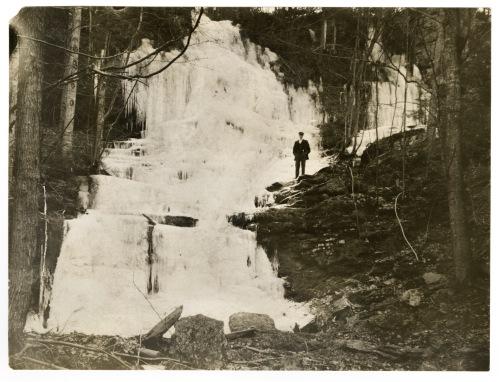 A frozen waterfall on Mt. Toby, December 5, 1906.