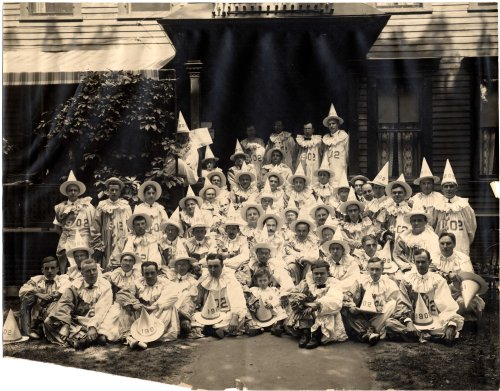 The Class of 1902 at their decennial reunion, June 24 1912. Published in