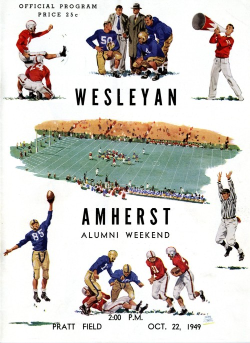 October 22, 1949 - Amherst won, 14-7