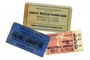 tickets from 1891, 1926 and 1937