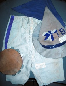 Portion of a Yama Yama Man costume used by the Class of 1902 in 1912.