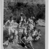 """On verso, """"In front of the Dog River caves."""" (Dicran Berberian to Laurens Seelye, April 20, 1926.)"""