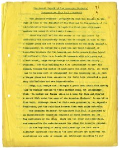 First page of 1924-25 report. Click on pdf below for full report.