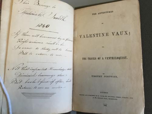 Valentine Vaux title page