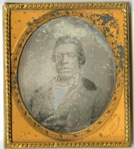 Daguerreotype of Charles Thompson by Chandler Seaver, Jr., of Boston, ca 1855