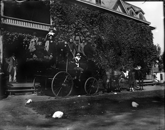 Members of Psi Upsilon prepared for a Mountain Day outing, 1897
