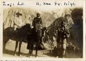 """Zoji La.  11,200 ft. high"" (page 2, photograph 2)."