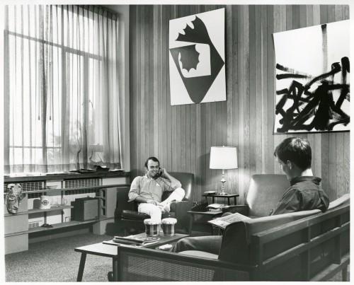 Social dorms- 1960s Crossett interior B&G b19 f8