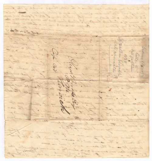 Sidney Brooks letter to his father Obed Brooks, June 28, 1838