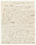 Sidney Brooks letter to his father Obed Brooks, March 21, 1840