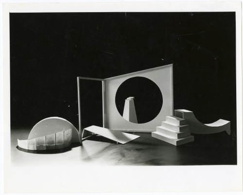 """The set for """"Radishes and Flowers: a Wallace Stevens Feast,"""" designed by Charma le Edmonds, around 1987."""