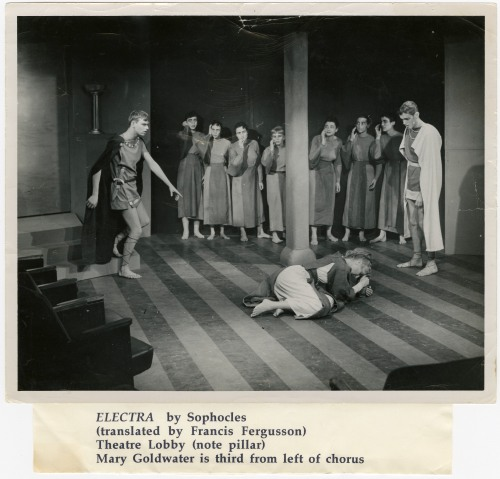 """Muriel Seelye Heineman in the Theatre Lobby's production of """"Electra."""""""