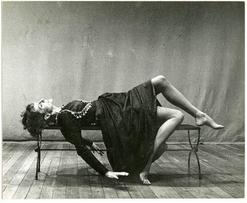 "Seelye in a scene from Joyce's ""Finnegan's Wake.""  Photography by George de Vincent."