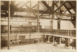 Photograph showing the interior of Pratt Gymnasium in 1885
