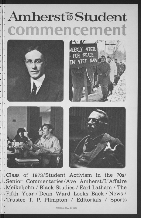 1973 Amherst Student Commencement issue