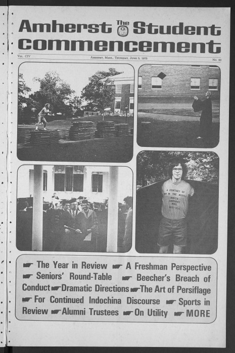 1975 Amherst Student Commencement issue