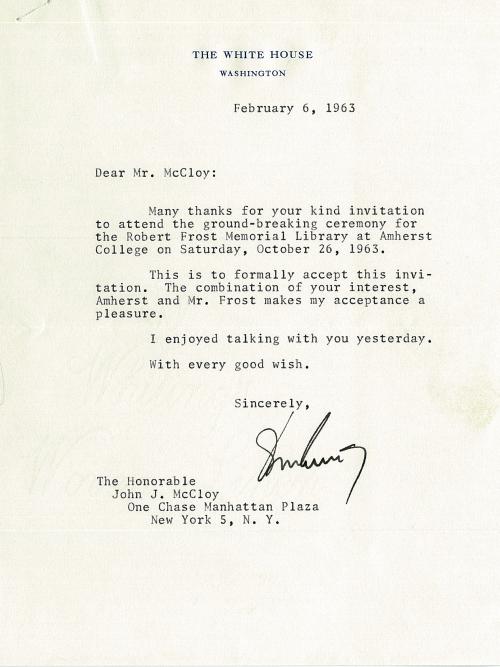 JFK to McCloy