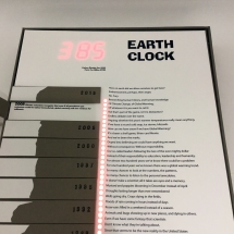 Earth Clock by Ginger R. Burrell display