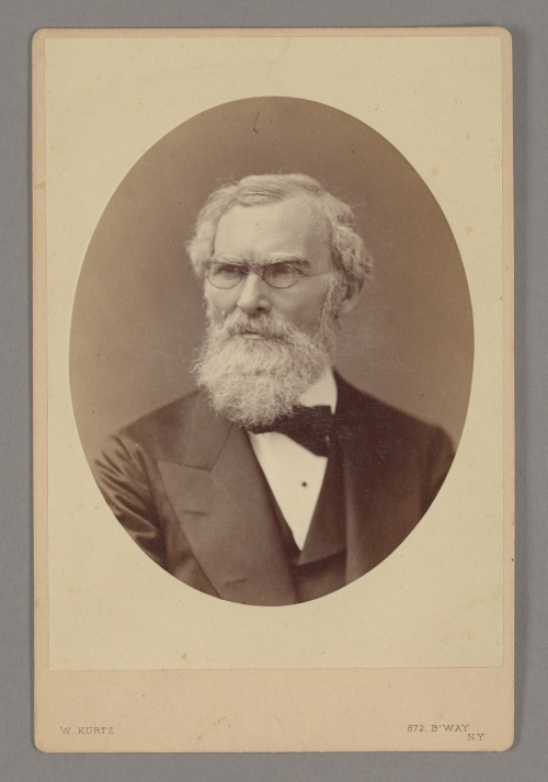 Photograph of Henry J. Van Lennep. Albumen print on card mount.