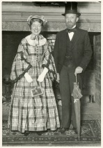 Physics Professor William Stifler and his wife in 1934 dressed as Ebeneezer and Sabra Snell. Professor Snell was one of the earliest graduates and professors at Amherst.