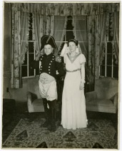 Professor Ralph Beebe and his wife Libby exploring their inner Napoleons in 1936.