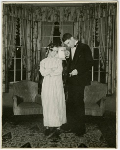 Professor Curtis Canfield and his wife Libby in 1936. I don't know who they are dressed as, but I love their sass!