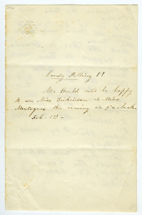 George Gould to Emily Dickinson, 1850