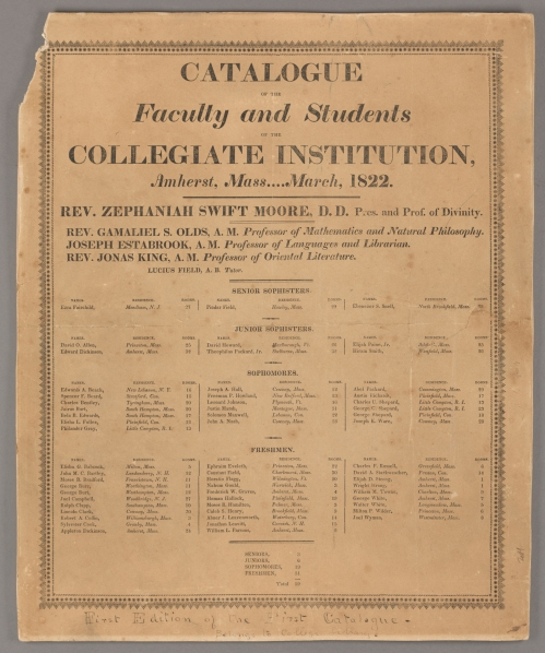 Amherst College Catalogue